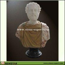 newstar buste en marbre sculpté à la main
