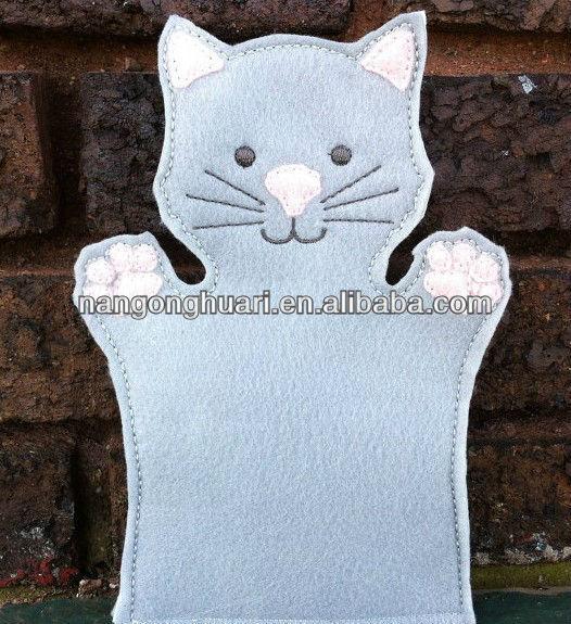 Como hacer un titere de gato con fieltro - Imagui