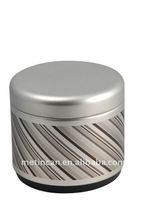 vintage cylinder shaped metal tin bracelet box