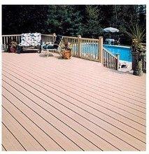 Pavimentazione di legno sintetica esterna riciclata resistente UV d'impermeabilizzazione