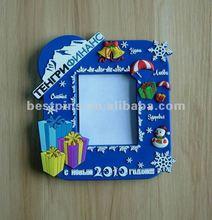 2012 soft pvc christmas pvc photo frame, christmas gifts