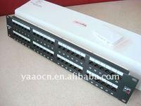Factory Low Price 2U 48 Ports UTP Cat5e Cat6 Cat6A Patch Panel