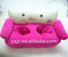 cut sofa plush cell phone holder