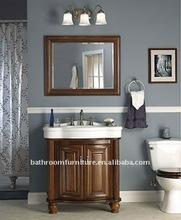 solid wood bathroom cabinet(BZ 130) European noble style MDF bathroom vanity