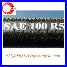 Single Wire Braid, Textile Covered Hydraulic Rubber Hose SAE100 R5
