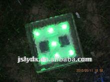 Solar led cube light led ice brick light different size for choose