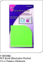 PET Book Marker pocket