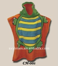 Magic turtle Hooded kids beach towel