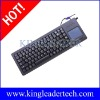 Rugged industrial plastic keyboard with function keys and integrated touchpad