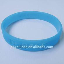 translucent blue glow in The dark silicone bracelet