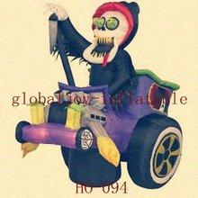 Interesting Inflatbale Halloween Airblown- Grim Reaper Hot Rod HO-094/halloween cartoon decoration