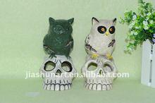 Ceramic Halloween Candle Holder/ Halloween Items