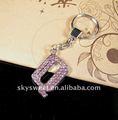 Alfabeto clave de la cadena, llaveros de cartas