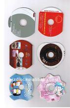 Custom Shaped CD Replication High Quality