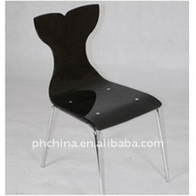 Black Acrylic Modern Dining Chairs / Dining Room Chairs, ADC_023