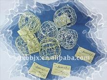 Gold/Silver pumpkin iron wire Halloween decorative storage crafts