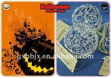 Gold/Silver pumpkin metal wire Halloween decoration craft