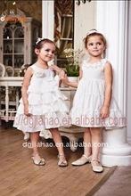 2012 the latest designed cream flower child wedding dress