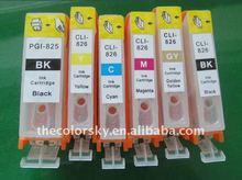 (RCC825-1) refillable ink cartridge for Canon PGI825 CLI826 pgi-825 cli-826 pgi 825 cli826 PIXMA MG8180/MG6180