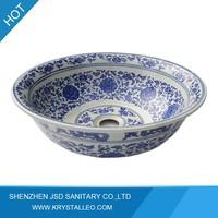 Unique Chinese Style Bathroom Porcelain Vessel Sinks