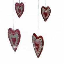 Lovely ceramic heart shape hanging ornament