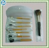 plastic pvc make-up brush set bags