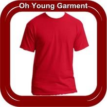 2014 Wholesale CVC Printed O Neck Short Sleeve Custom Plain TShirt For Print