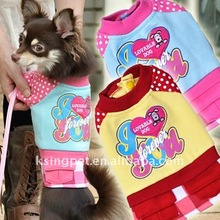 rainbow candy autumn and winter clothes for pet