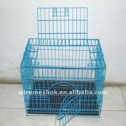 Portable metal dog cage