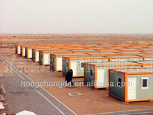 moder modular green light steel container house/home