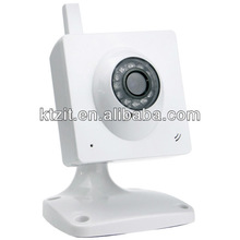Cheap 300KP CMOS CCTV Wireless Wired IR Indoor IP Cube Video Camera With 2 Year Warranty