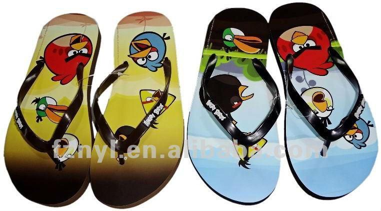 heat transfer brand kid's plastic sandals