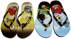 heat transfer brand kid's plastic sandals