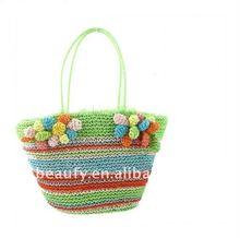 Cool Summer Green Paper Straw Handbag