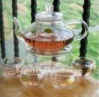 2015 crystal borosilciate glass tea sets
