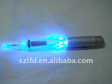 LED Light pen,promotional gifts led flashing ballpen write in dark
