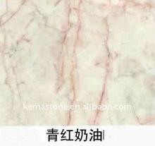 Green Pink Cream Marble Verdant & Red Cream