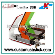 custom logo Leather USB Flash data storage