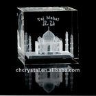 Taj Mahal in 3D Crystal Cube, Taj Mahal crystal paperweight