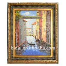 Venice handmade landscape painting design with frame