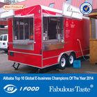 big wheels sliding windows mobile food cart/food trailer/food van