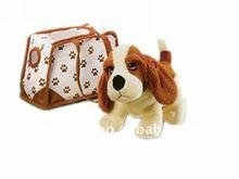 Plush stuff plush puppies wagging tail purse pet