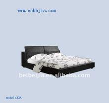black wood furniture bed 338#