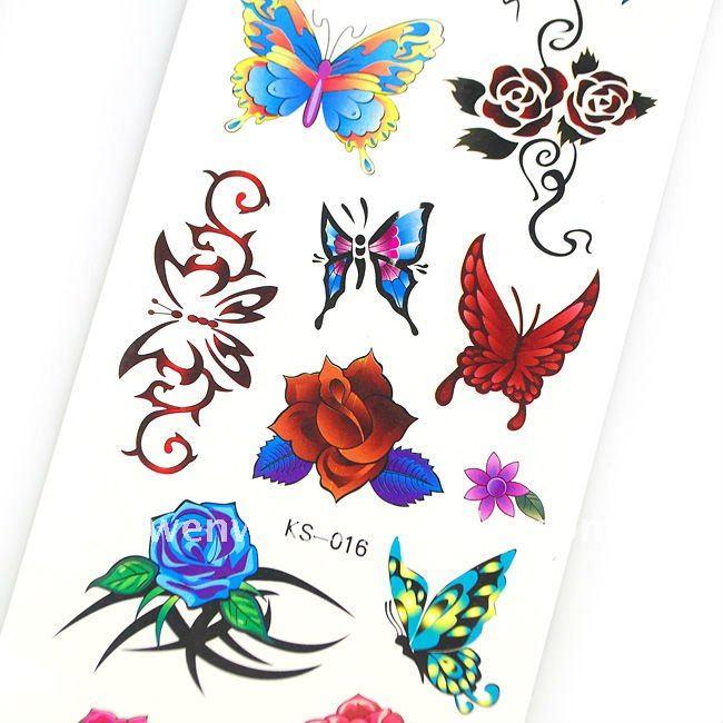 Brillo mariposa tatuaje-Tatuaje temporal-Identificación del ...