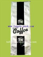 custom printed aluminum foil coffee bag tin tie coffee bag