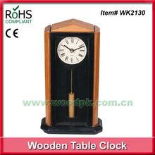 Woodpecker 17x30.2cm modern pendulum clock wooden alarm clock