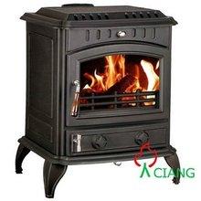 countryside wood burning fireplace