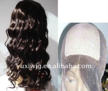 100% Chinese Human Hair Full Lace Wigs/silk top