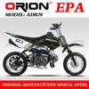 China Apollo ORION EPA Approved Gas 70cc Mini Pit Bike Kids bike 70cc dirt bike Off Road AGB-21