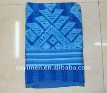2012 Ocean blue woven JACQUARD bath towel